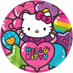"Hello Kitty Rainbow� 9"" Round Plates"