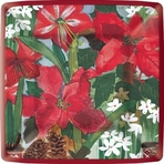 Holiday Flowers Paper Dessert Plate Square  Availability: In stock