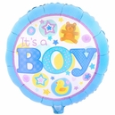 It's a Boy Blue Foil Balloon