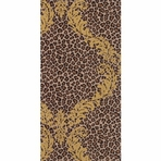 LEO COUTURE brown gold GUEST TOWEL