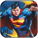 "Superman� 7"" Square Plates"