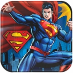 "Superman� 9"" Square Plates"