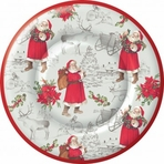 Welcome Santa Paper Dinner Plate Round