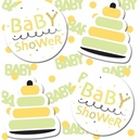 Yellow and Green Baby Shower Confetti