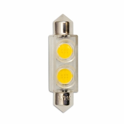 0.8 Watt - 24 Volt - 3 Watt Replacement - LED Light Bulb - Festoon Base - Bulbrite
