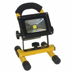 10-Watt LED Rechargeable Li-Ion Battery Operated Work Light