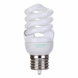 10 Watt - 40 Watt Replacement - CFL - Spiral - Medium Lock Out Base - Litetronics