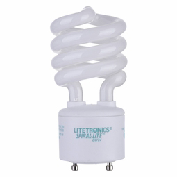13 Watt - 60 Watt Replacement - CFL - Spiral - GU24 Base - Litetronics