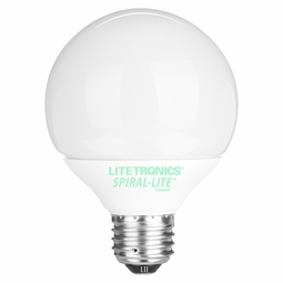 14 Watt - 60 Watt Replacement - CFL - G25 Globe - Medium Base - Litetronics