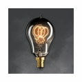 25 Watt - Antique Light Bulb - A15 Victorian - Candelabra Base - Bulbrite Mini Nostalgic Smoke