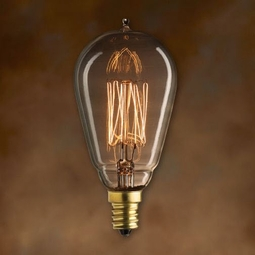 25 Watt - Antique Light Bulb - ST15 Signature - Candelabra Base - Bulbrite Mini Nostalgic