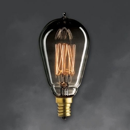 25 Watt - Antique Light Bulb - ST15 Signature - Candelabra Base - Bulbrite Mini Nostalgic Smoke