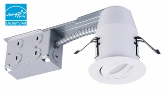 3-Inch LED Remodel Non-IC Recessed Light Kit with Swivel Trim