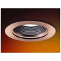 3-Inch Low Voltage Recessed Lighting Trim with Copper Ring and Stepped Baffle