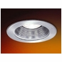 3-Inch Low Voltage Recessed Lighting Trim with Natural Metal Trim and Stepped Baffle