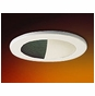 3-Inch Low Voltage Recessed Lighting Trim with Wall Wash and Black Baffle