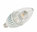 4.5 Watt - 25 Watt Replacement - LED Light Bulb - B10 Torpedo Tip - Candelabra Base - American Lighting