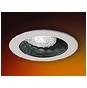 4-Inch Line Voltage Recessed Lighting Trim with Adjustable Black Reflector