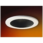 4-Inch Line Voltage Recessed Lighting Trim with Black Stepped Baffle