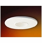4-Inch Low Voltage Recessed Lighting Trim with White Pinhole and Baffle