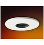 4-Inch Low Voltage Recessed Lighting Trim with White Pinhole and Black Baffle