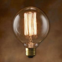 40 Watt - Antique Light Bulb - G30 Globe - Medium Base - Bulbrite Nostalgic