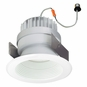 5 Inch - 11.8 Watt - 60 Watt Replacement - Dimmable LED Downlight Retrofit Module - Baffle Trim - E26 Medium Base - Damp Location - Nora Lighting