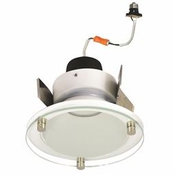 5 Inch - 12.55 Watt - 65 Watt Replacement - Dimmable LED Downlight Retrofit Module - Decorative Glass - E26 Medium Base - Wet Location - Nora Lighting