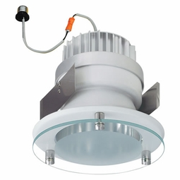 5 Inch - 14.3 Watt - 85 Watt Replacement - Dimmable LED Downlight Retrofit Module - Decorative Glass - E26 Medium Base - Wet Location - Nora Lighting