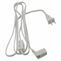6-Foot Power Cord and Plug with Roller Switch for T5 SlimLite XL Light Fixtures