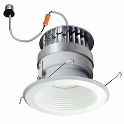 6 Inch - 11.8 Watt - 60 Watt Replacement - Dimmable LED Downlight Retrofit Module - Baffle Trim - E26 Medium Base - Damp Location - Nora Lighting