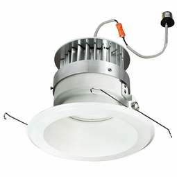 6 Inch - 11.8 Watt - 60 Watt Replacement - Dimmable LED Downlight Retrofit Module - Reflector Trim - E26 Medium Base - Damp Location - Nora Lighting