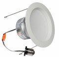 6 Inch - 9.7 Watt - 65 Watt Replacement - Dimmable LED Downlight Retrofit Module - E26 Medium Base - Damp Location - American Lighting