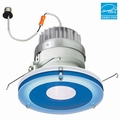 6-Inch LED Dimmable Retrofit Module for Recessed Lights, 981 Lumens, 14.6W, Damp Location, Decorative Glass Trim