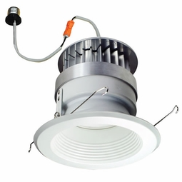 6 Inch - 14.6 Watt - 85 Watt Replacement - Dimmable LED Downlight Retrofit Module - Baffle Trim - E26 Medium Base - Wet Location - Nora Lighting