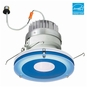 6-Inch LED Dimmable Retrofit Module for Recessed Lights, 981 Lumens, 14.6W, Wet Location, Decorative Glass Trim