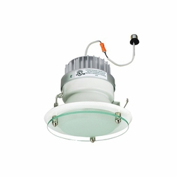 6 Inch - 14.6 Watt - 85 Watt Replacement - Dimmable LED Downlight Retrofit Module - Decorative Glass - E26 Medium Base - Wet Location - Nora Lighting