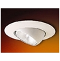 6-Inch Line Voltage Recessed Lighting Trim with Adjustable Eyeball for Sloped Ceilings