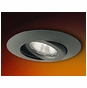 6-inch Line Voltage Recessed Lighting Trim with Adjustable Gimbal Ring for Sloped Ceilings