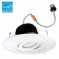 6-Inch Surface Adjustable LED Dimmable Retrofit Module for Recessed Lights, 700 Lumens, 11W, Wet Location