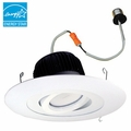 6-Inch Surface Adjustable LED Dimmable Retrofit Module for Recessed Lights, 700 Lumens, 12.55W, Wet Location