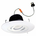 6 Inch - 12.55 Watt - 65 Watt Replacement - Dimmable LED Downlight Retrofit Module - Surface Adjustable Trim - E26 Medium Base - Wet Location - Nora Lighting