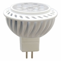 6 Watt - 12 Volt - 50 Watt Replacement - LED Light Bulb - MR16 - GU5.3 Base - Litetronics