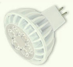 7 Watt - 12 Volt - 35 Watt Replacement - LED Light Bulb - MR16 - GU5.3 Base - Flood - Satco KolourOne
