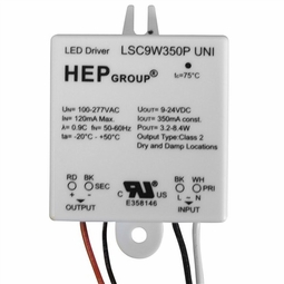 8 Watt - 350mA - Hardwire - Electronic Constant Current LED Driver