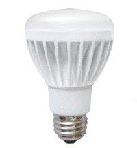 8 Watt - 50 Watt Replacement - Dimmable LED Light Bulb - BR20 - Litetronics