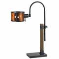 Adjustable Height Desk Lamp with Mica Shade