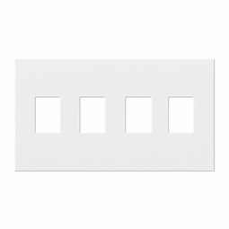 Architectural Four Gang Wallplates for Lutron Dimmers