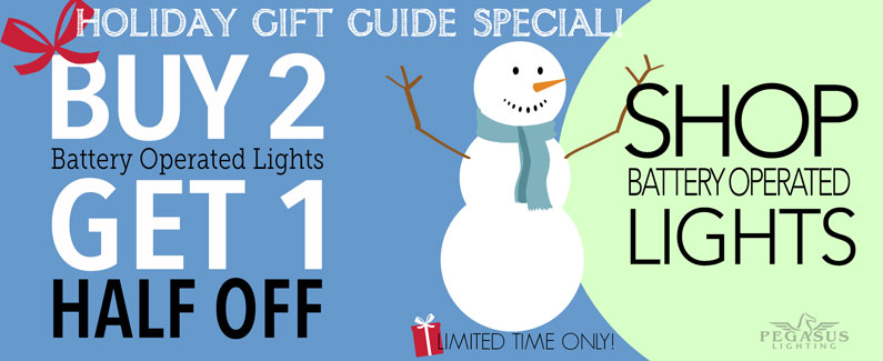 Buy 2 Battery Operated Lights Get 1 Half Off