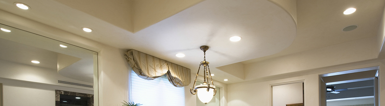 Recessed Ceiling Light and Hanging light in bathroom